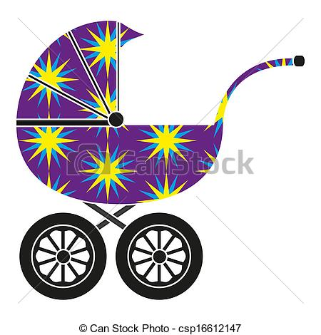 450x470 Baby Carriage Eps Vector