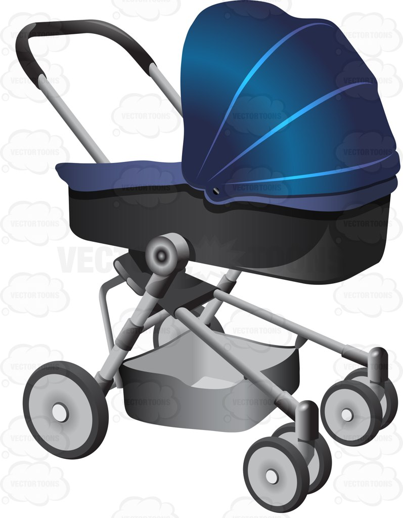 797x1024 A Two Tone Infant Stroller With An Extra Compartment Underneath