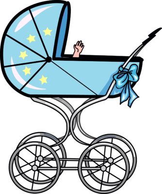 334x400 Image Of Baby Stroller Clipart