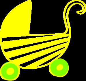298x282 Neutral Baby Stroller Clip Art