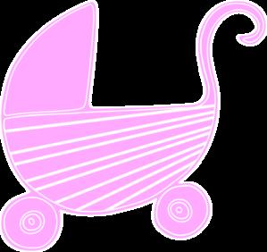 299x282 Pink Baby Stroller Clip Art