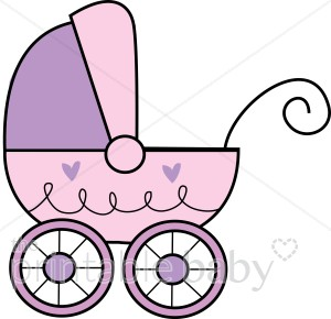300x290 Purple Baby Buggy Clipart Stroller Clipart