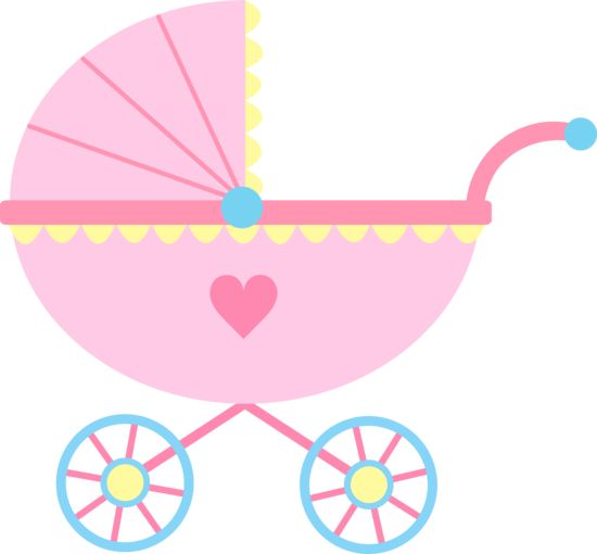 550x510 Baby Clipart Girl Cute Pink Baby Carriage