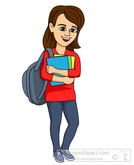 448x550 Clipart Of A Student College Student Clipart Png 2