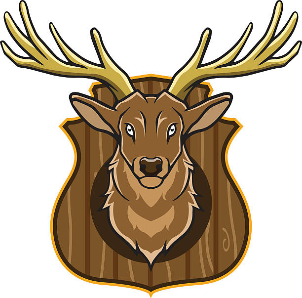 612x603 Collection Of Mounted Deer Head Clipart High Quality, Free