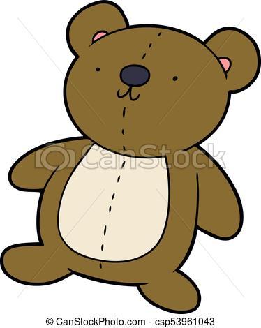 374x470 Cartoon stuffed toy bear eps vector