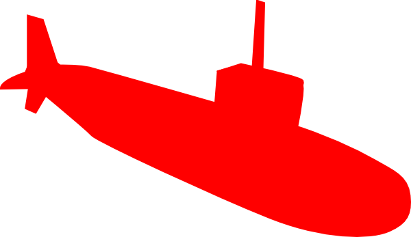 600x347 Red Submarine Clip Art