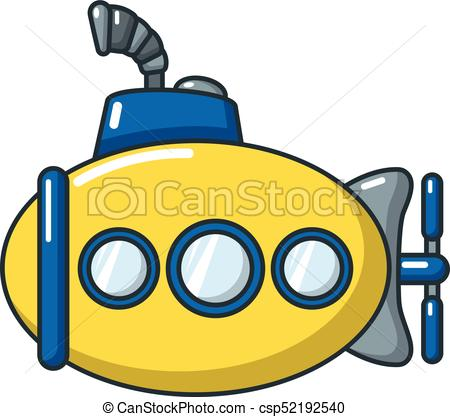 450x417 Submarine Funny Icon, Cartoon Style. Submarine Funny Icon . Eps