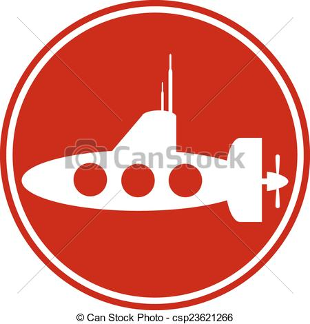 450x470 Submarine Icon On White Background. Vector Illustration. Clip Art
