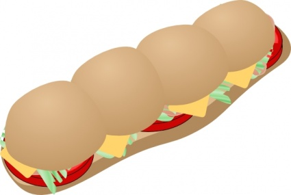425x285 Sandwich Clipart Submarine Sandwich Clip