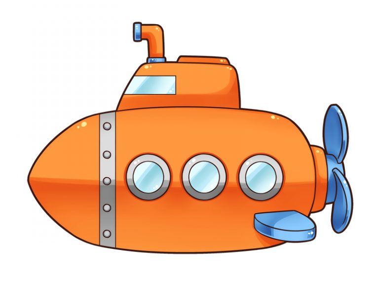 768x577 Cartoon Submarine Clipart Free To Use Public Domain Submarine Clip