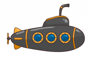 300x192 Cartoon Submarine Clipart Free To Use Public Domain Submarine Clip