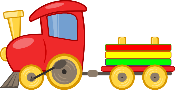 600x309 Cartoon Train Clipart
