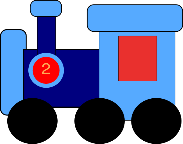 600x473 Blue Train Engine Clipart Free Clipart Images