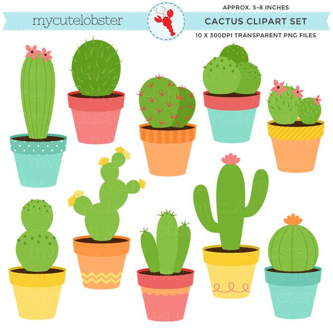 670x670 Cactus Clipart Set Clip Art Set Of Cactus Cacti Cactuses