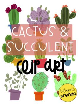 270x350 Cactus Amp Succulent Clip Art By Bilingual Brenda Tpt