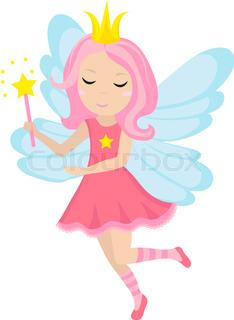 234x320 Vector Illustration Of Cute Fairy Cartoon Stock Vector Colourbox