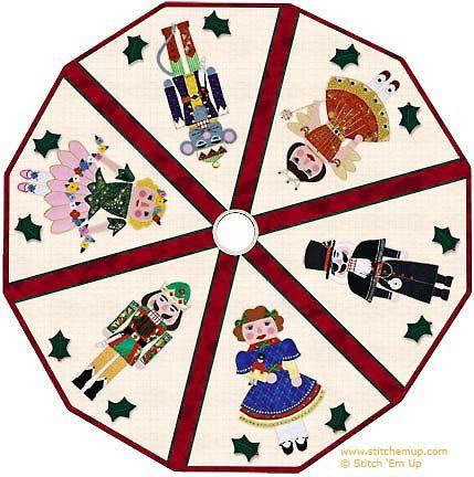 429x432 Christmas Tree Skirt Starring Clara, Sugar Plum Fairy,