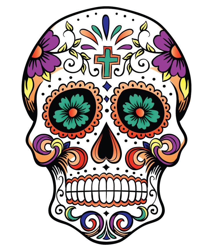 736x867 Day Of The Dead Skull Images Awesome Images Day Of The Dead Skull