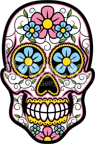 367x556 Simple Sugar Skull Clip Art. Sugar Skull Hispanic Art Lessons