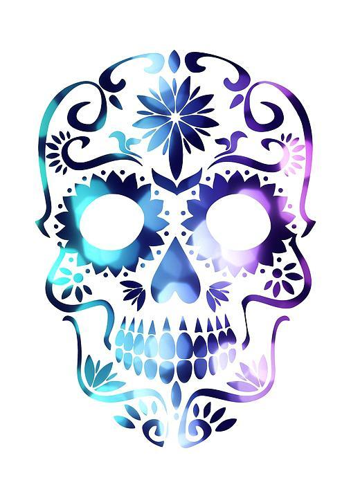 507x720 Skull Candy Clip Art Collection Free Free Sugar Watercolor Sugar