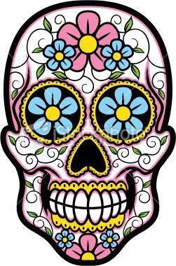251x380 Vector Illustration Of Sugar Skull. Sugar Skulls, Vector Art