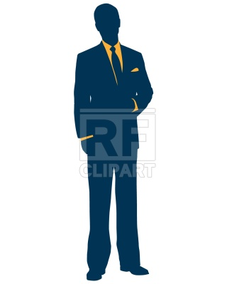 320x400 Businessman In Suit Royalty Free Vector Clip Art Image
