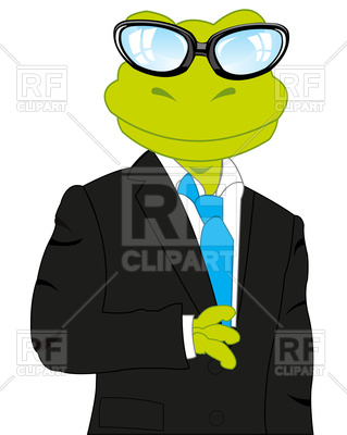 319x400 Cartoon Frog In Suit Royalty Free Vector Clip Art Image