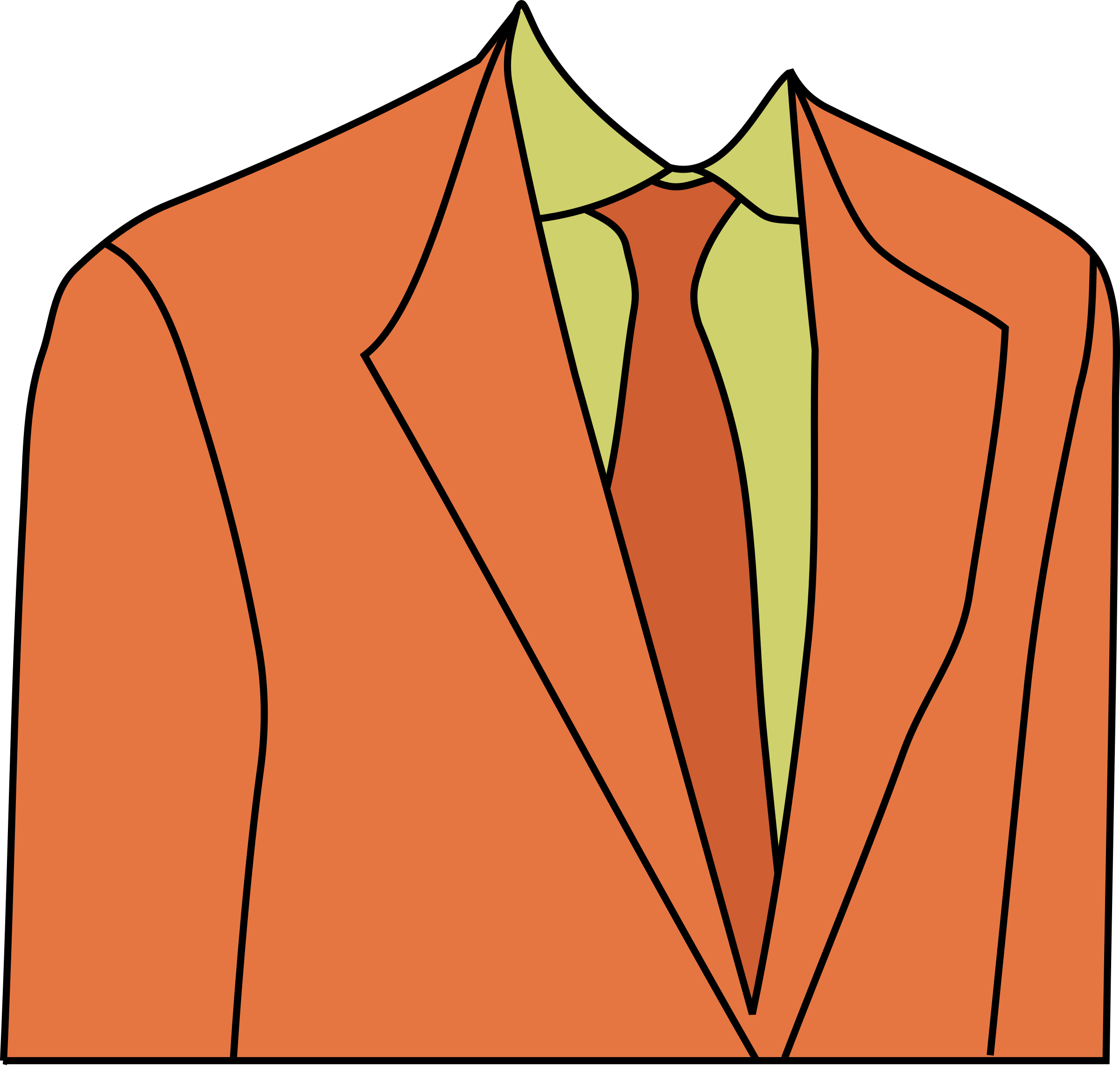 2400x2285 Orange Disco Suit Vector Clipart Image