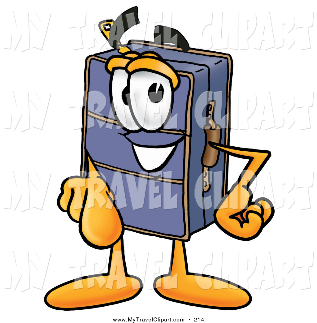 1024x1044 Clipart Of A Happy Suitcase Cartoon Character Pointing