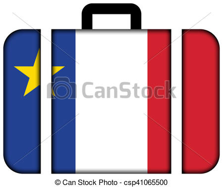 450x376 Flag Of Acadia, Canada. Suitcase Icon, Travel And Stock