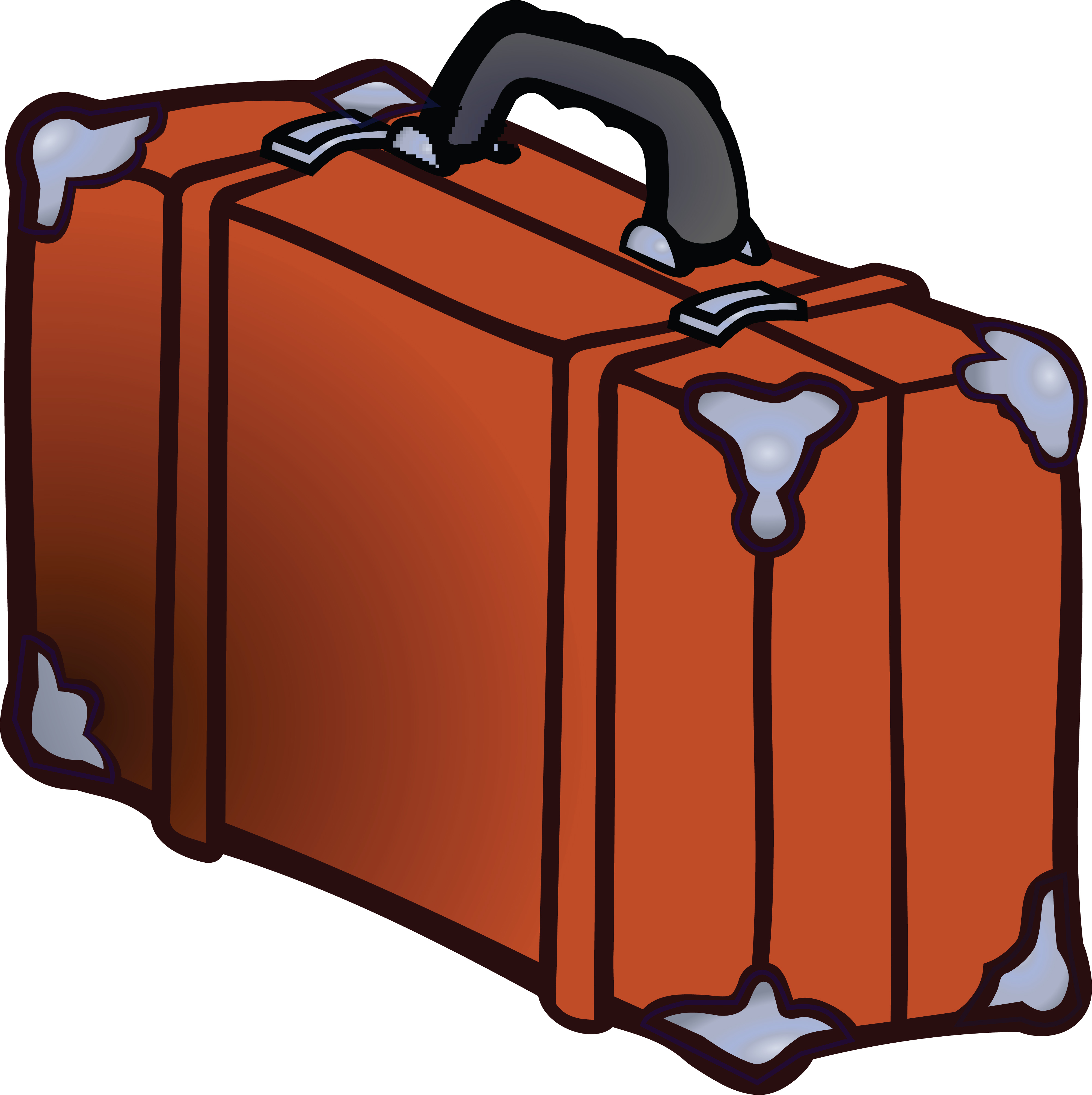 4000x4011 Free Clipart Of A Suitcase
