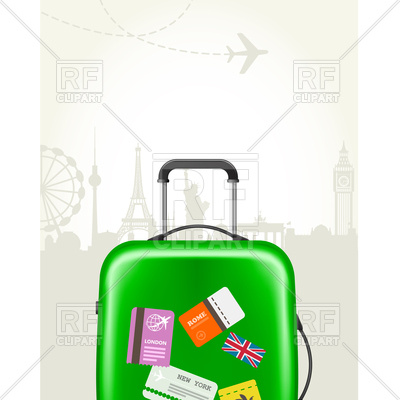400x400 Modern Suitcase With Travel Tags