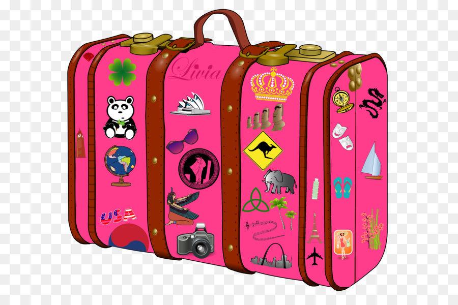 900x600 Suitcase Baggage Clip Art
