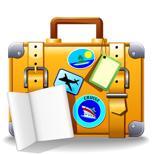 500x507 Suitcase Clipart Travel Itinerary'61886
