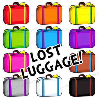 350x350 Tourist And Suitcase Clip Art Luggage Clipart By Dancing Crayon