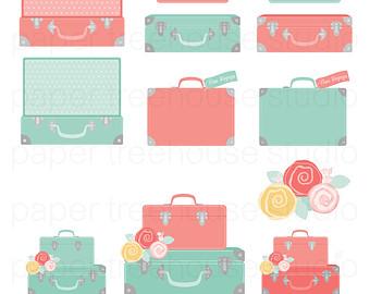 340x270 Travel Clip Art. Suitcase Clipart. Bon Voyage Party. Vacation