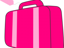 220x165 Clipart Luggage Pink Suitcase Clip Art
