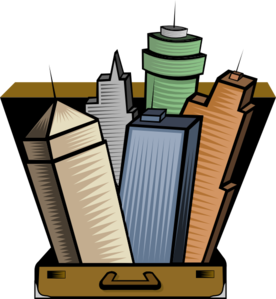 276x299 City In A Suitcase Clip Art