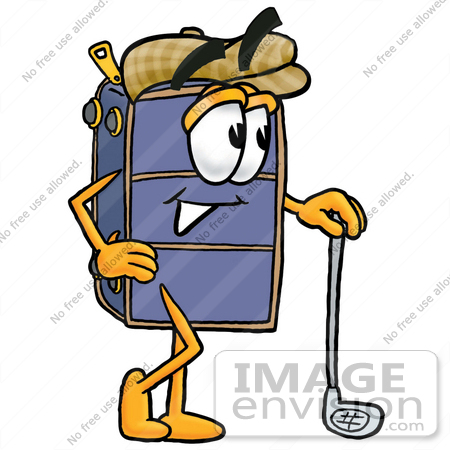 450x450 Clip Art Graphic Of A Suitcase Luggage Cartoon Character Leaning