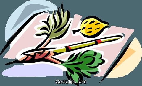 480x292 Sukkot Arbaat Haminim Royalty Free Vector Clip Art Illustration