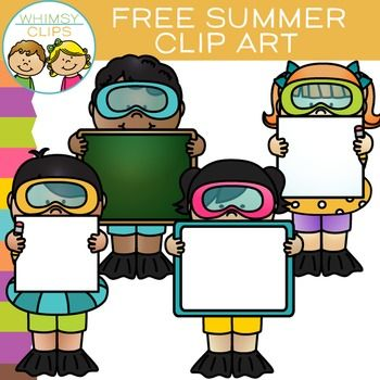 350x350 Free Summer Swim Kids With Signs Clip Art Clipart