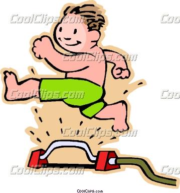 359x383 Kids In Sprinkler Clipart