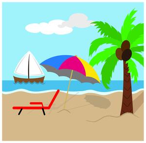 300x295 Beach Scenes Clip Art Clipartlook