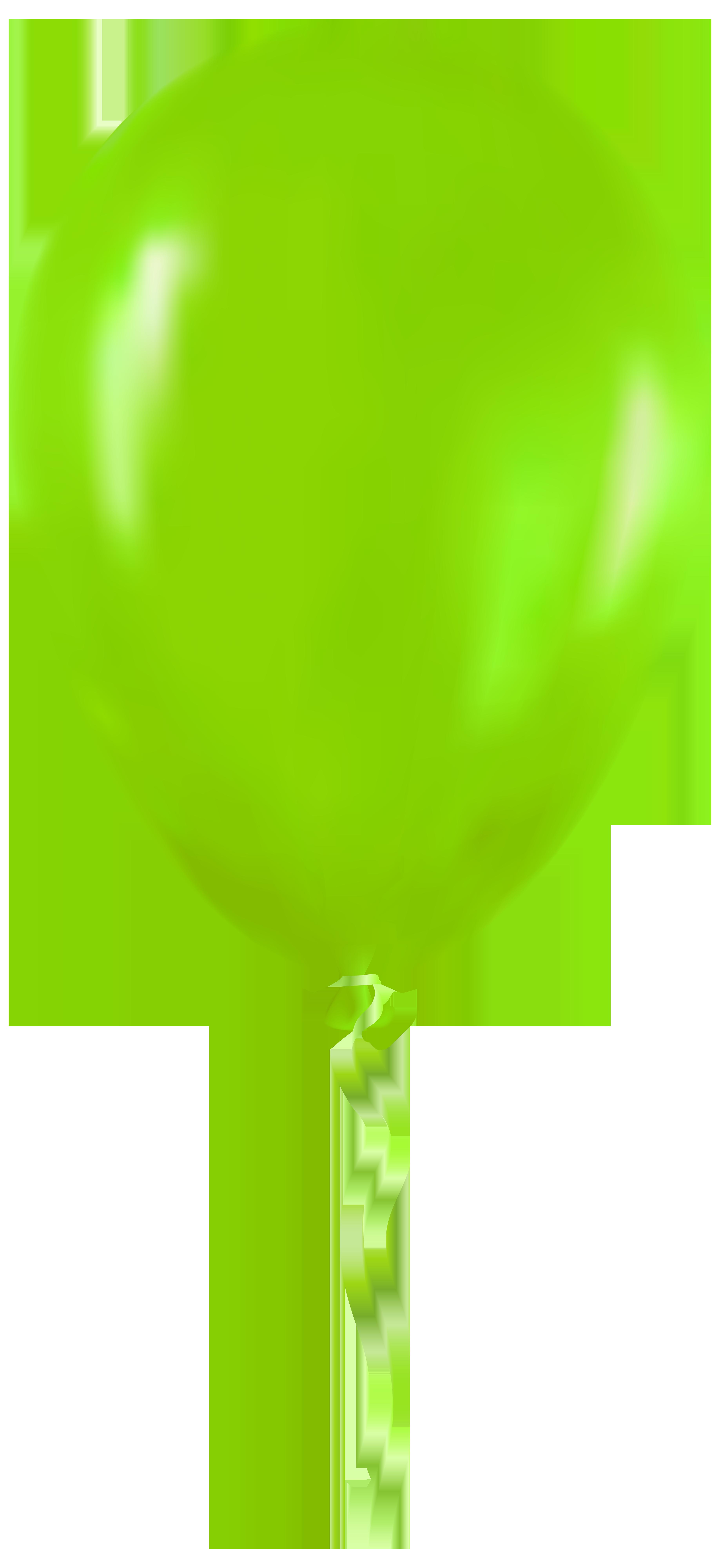 3674x8000 Green Balloon Png Clip Art