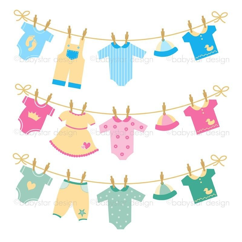 800x800 Baby Clothesline Clipart Group