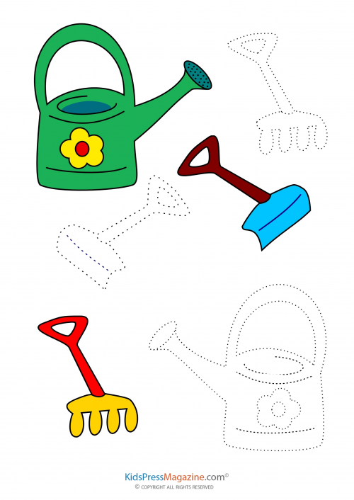 500x706 Coloring Match Garden Tools Art Therapy, Therapy And Activities