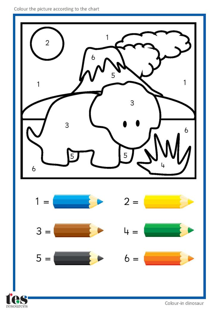 736x1047 Dinosaur Colour By Numbers Number Coloring Pages Summer Color By