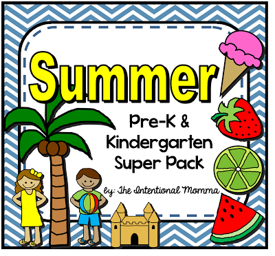 400x372 50 Page Summer Themed Printable Unit For Pre K And Kindergarten