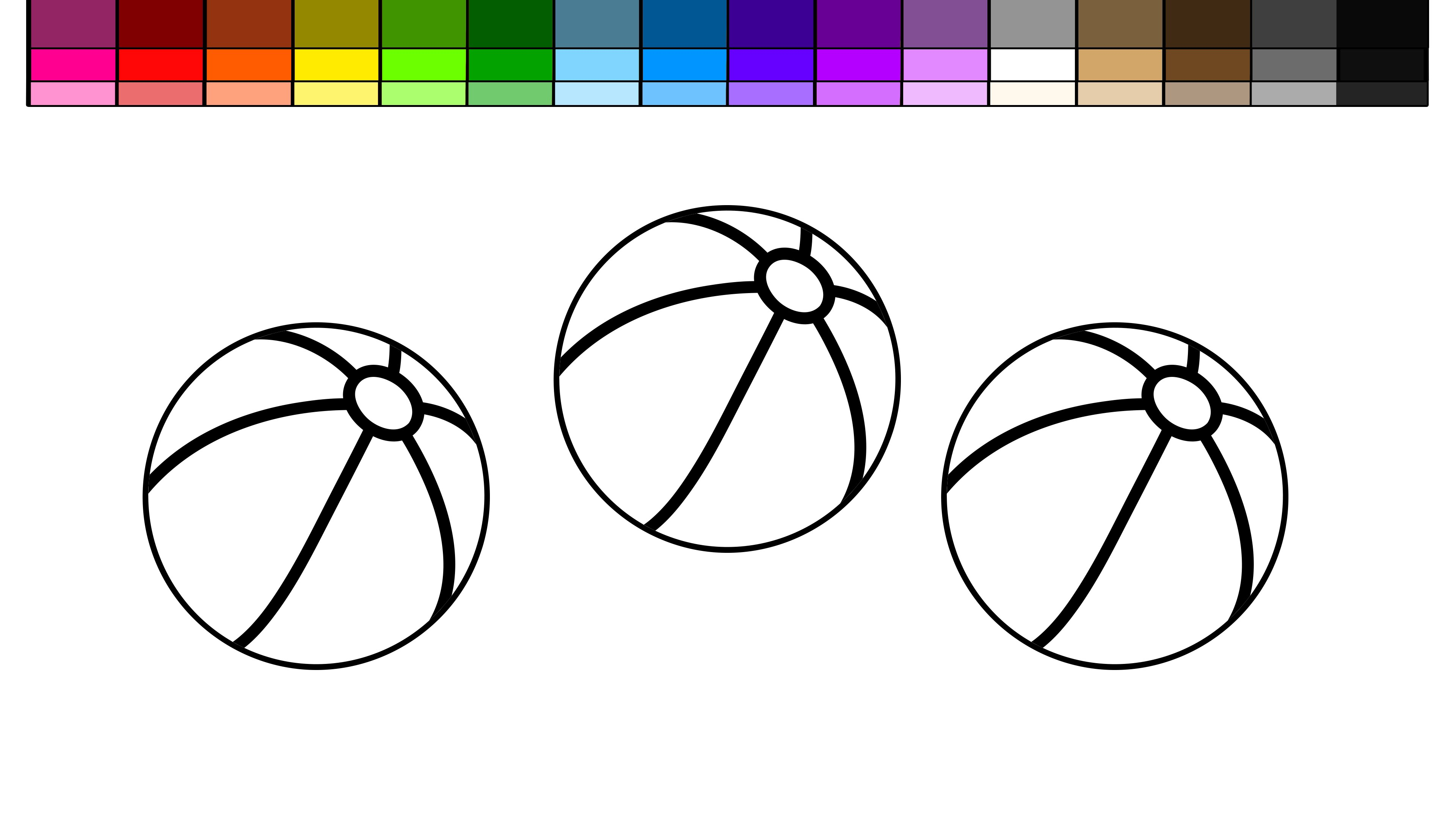 3840x2160 Learn Colors For Kids And Color Beach Ball Coloring Page